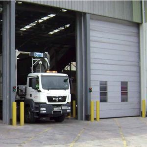 Vertical Lifting Fabric Doors