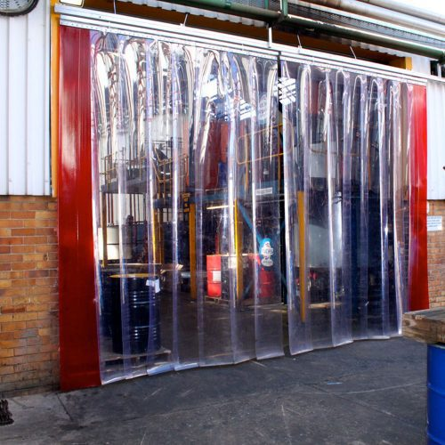 Strip Curtian resized images_0000_Red _ Clear Strip curtains
